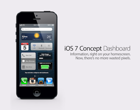 ios 7 concept dashboard